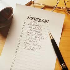 liste epicerie