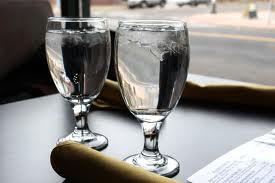 verre d'eau restaurant