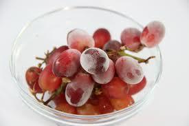 raisins congelés