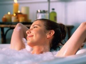 femme bain