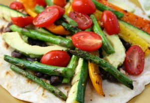 légumes tortillas