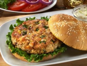 saumon hamburger