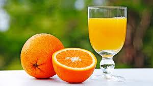 orange et jus orange