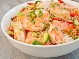 recette salade quinoa crevette