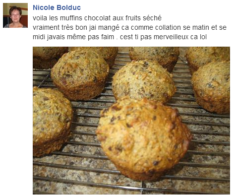 commentaire recette muffin