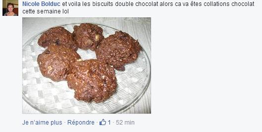 recette nicole chocolat biscuits