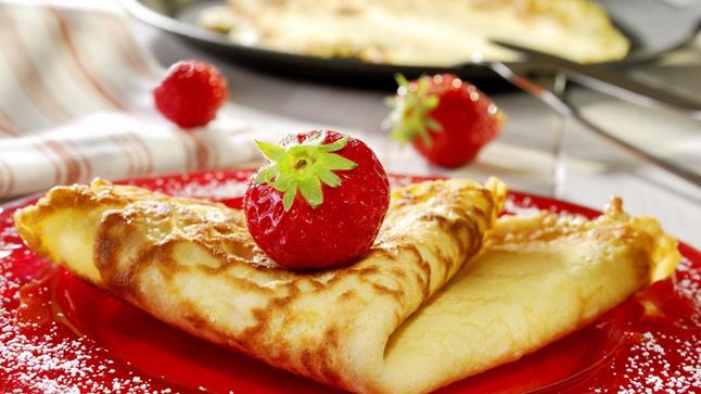 Crêpes santé aux fraises