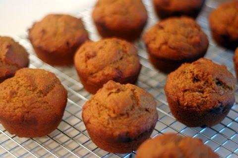 Muffins à la citrouille et raisins secs