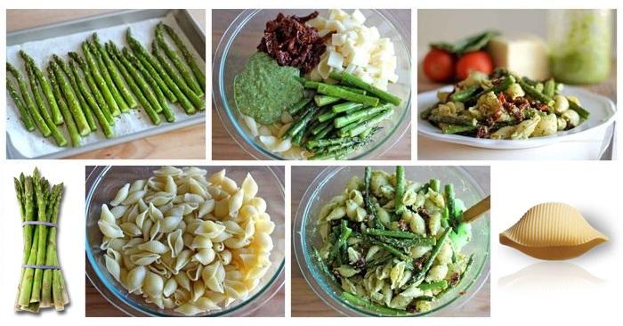 Salade de pâtes aux asperges et pesto