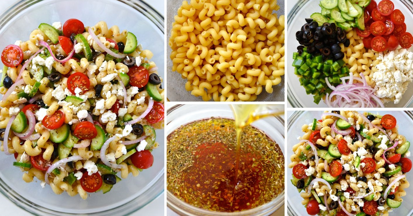 Salade de pâtes facile à la grecque