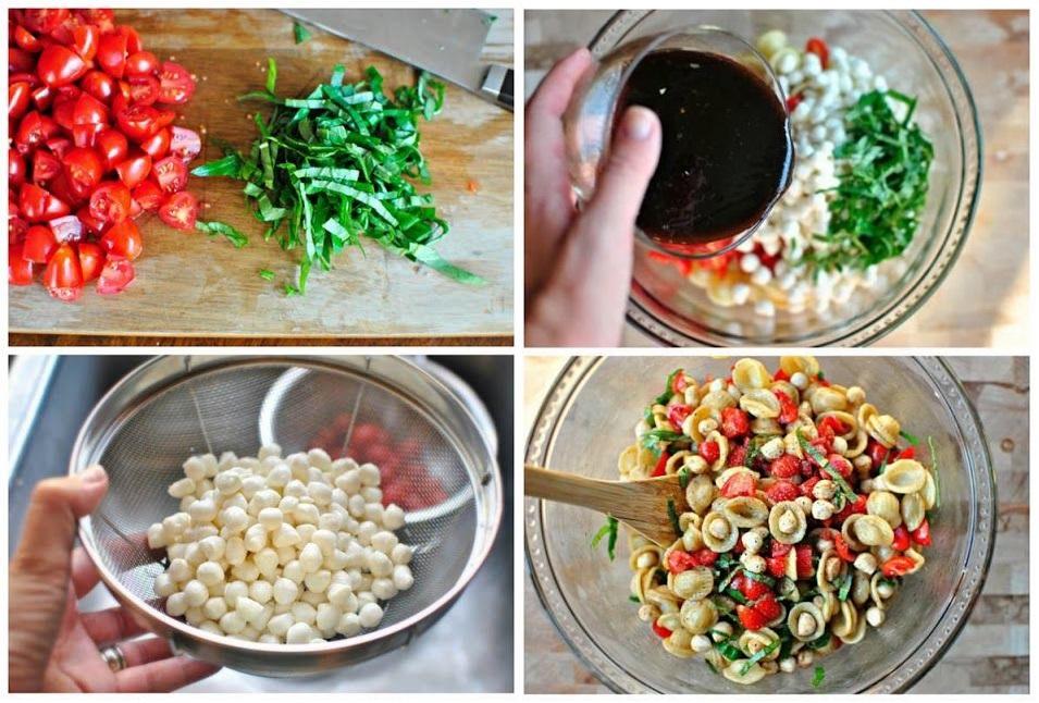 Salade de pâtes au fromage bocconcini
