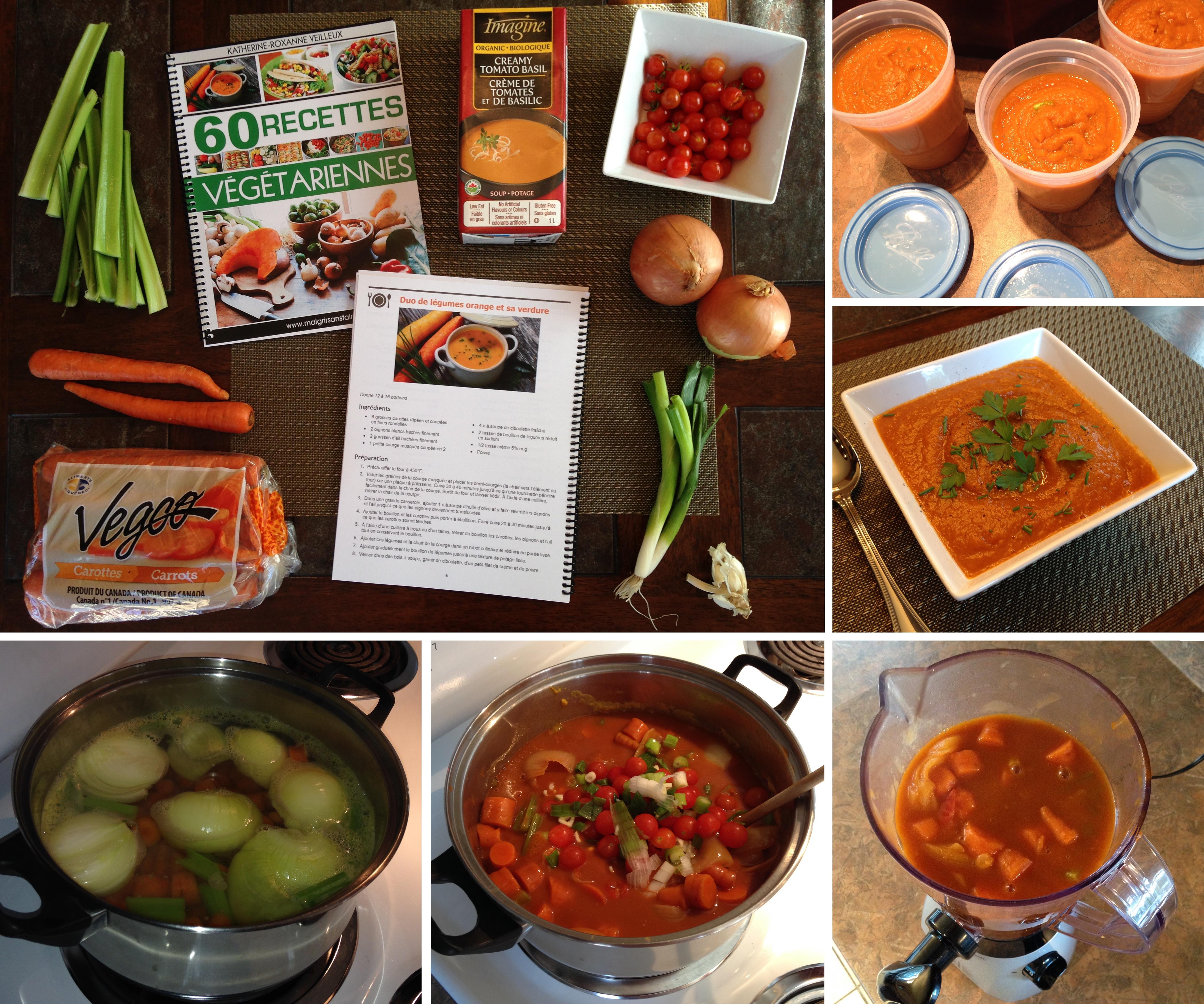Nouvelle version « tomatée » de mon potage aux carottes
