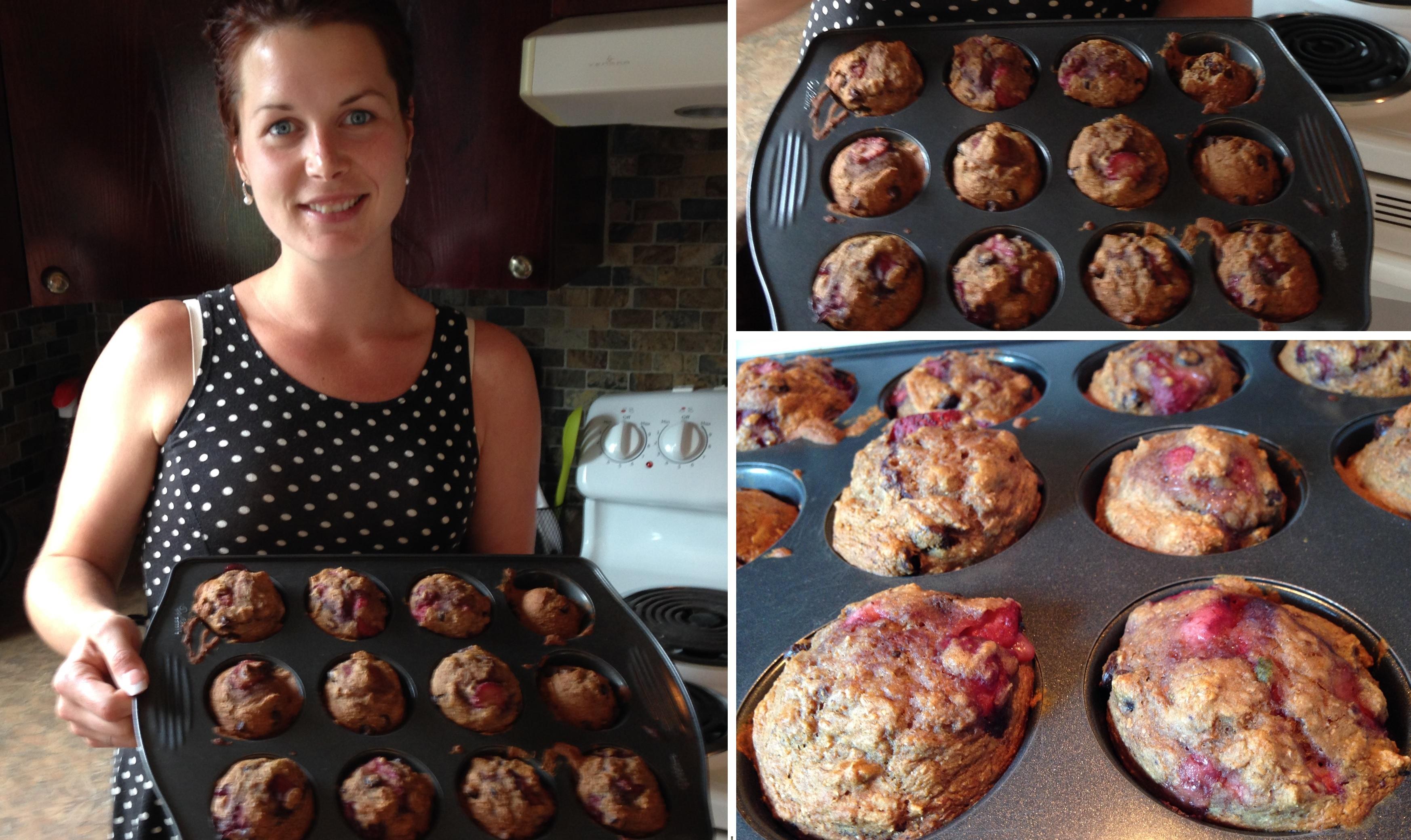 Ma recette de muffins aux fraises et banane sans huile