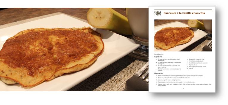Pancakes à la vanille et au chia (sans gluten) SPÉCIAL