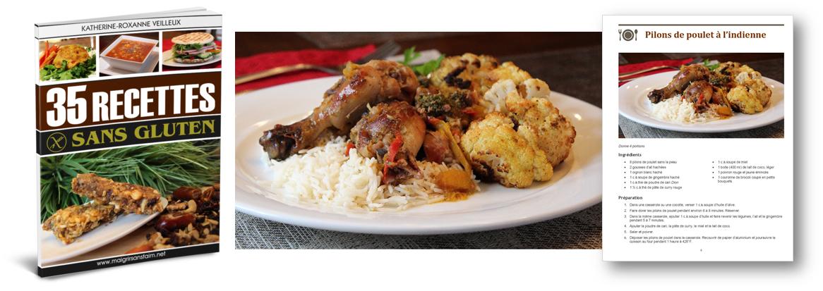 Ma recette de pilons de poulet à l'indienne (sans gluten)