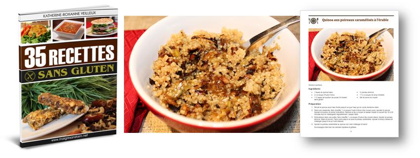 Ma recette de quinoa aux poireaux caramélisés à l'érable (sans gluten)