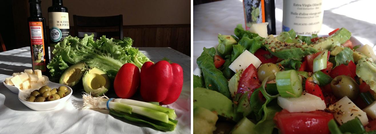 Recette de « p'tite salade de semaine »